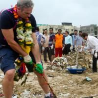 When the young Indian lawyer and his 84-year-old friend reached the edge of one of Mumbai's largest beaches, they stared out in disbelief at the vast blanket of rotting litter that had grown shin-deep in places. Plastic bags, cement bags, glass bottles, pieces of clothing, shoes and other litter covered every inch of sand, turning the once-pristine coastline into a wasteland.