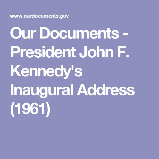 annotation of jfk s inaugural address Inaugural address by john f kennedy with annotations advancing emotional literacy education from the encyclopedia of the self.