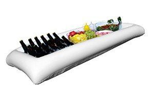 Amazon.com   Large White Inflatable Serving Bar Buffet Cooler With Drain Plug - perfect blow up server caddy to keep food salad and drinks cold - great for outdoor and indoor parties: Serveware Accessories