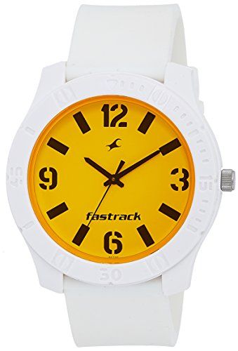 Fastrack Analog Orange Dial Women's Watch - http://weddingcollections.co.in/product/fastrack-analog-orange-dial-womens-watch-3062pp27/