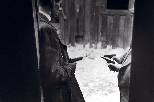 Saboteurs with guns, March 1945