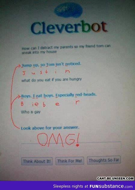How does Cleverbot Evie work?