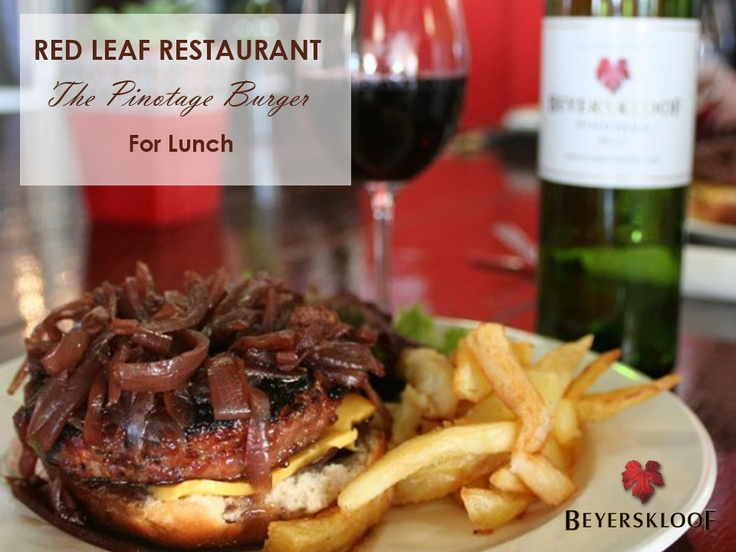 Why not treat yourself to delicious Pinotage Burger at the Red Leaf Restaurant at the Beyerskloof Winery?   Don't forget to check out the tasting room as well.
