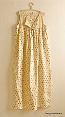 i want to make thisDresses Pattern, Dots Dresses, Dresses Tutorials, Dress Tutorials, Sewing Projects, Gathering Dresses, Sewing Nightgown, Gold Dots, Dresses Nightgowns Pattern