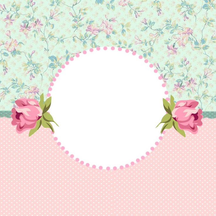 PINK & MINT GREEN PAPER FRAME. CIRCLE CUT OUT.