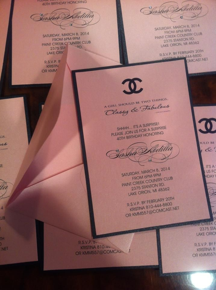 Chanel Invitation Bridal Shower Invitation Sweet 16 Invitations Sweet Sixteen Invitation Birthday Invitation Chanel Invitation