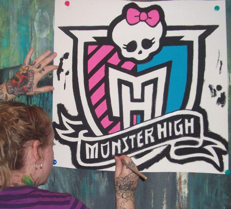 MONSTER HIGH room ideas hand painted wallpaper murals by me Roxanne   allmuralshandpainted  on etsy. 89 best s  monster high images on Pinterest   Bedroom ideas  Girls
