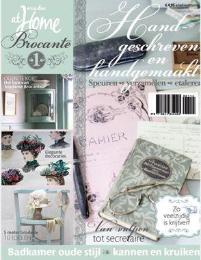 ariadne at home Brocante 1-2014 #magazine #brocante #shabby #cover #interior
