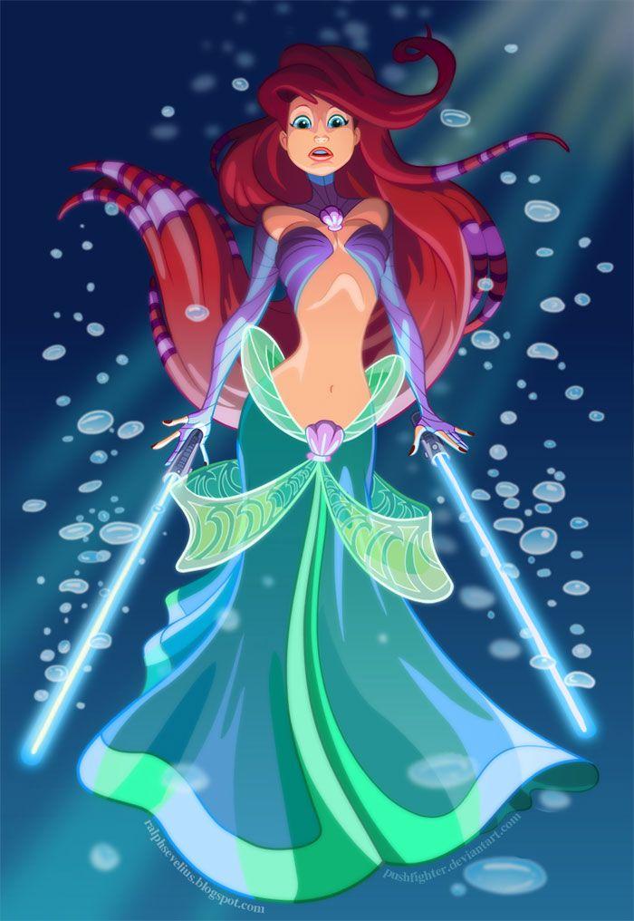 Princesas Disney e Star Wars 2