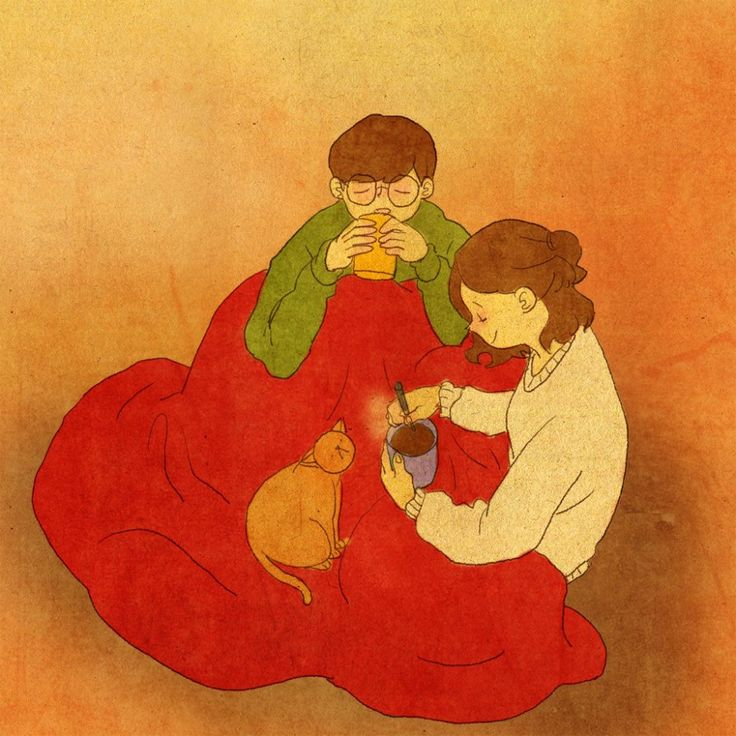 puuung-love-is-illustration-art-book-cosmic-orgasm-lovers-daily-life-small-things-cat-balnket-red