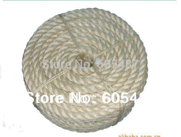 6 мм натуральный сизаль сизалевые веревки, шпагат для упаковки diy кошачьих царапин доска кошка лазалки 50 м/шт.