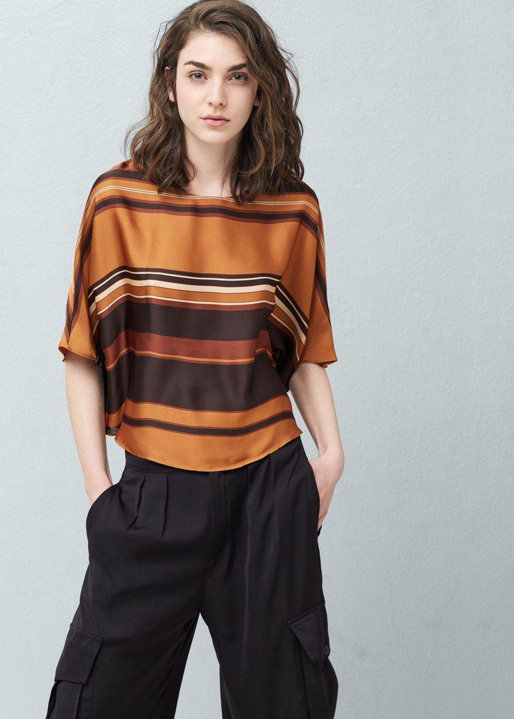 Струящаяся блузка в полоску - Рубашки - Женская   OUTLET Россия (Российская Федерация)