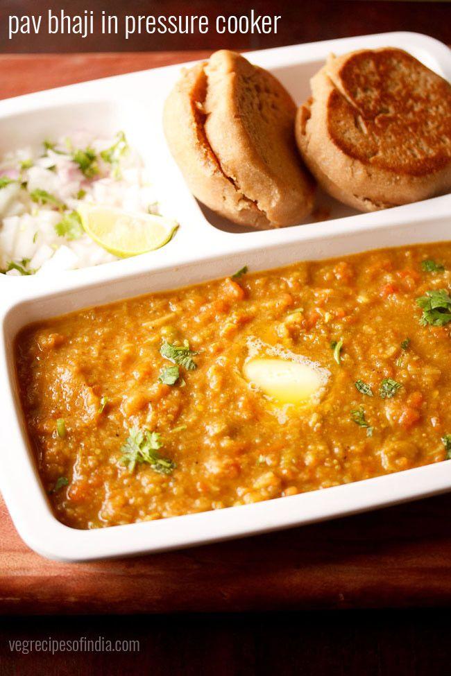 pav bhaji recipe in pressure cooker - easy method of preparing delicious pav bhaji using pressure cooker.
