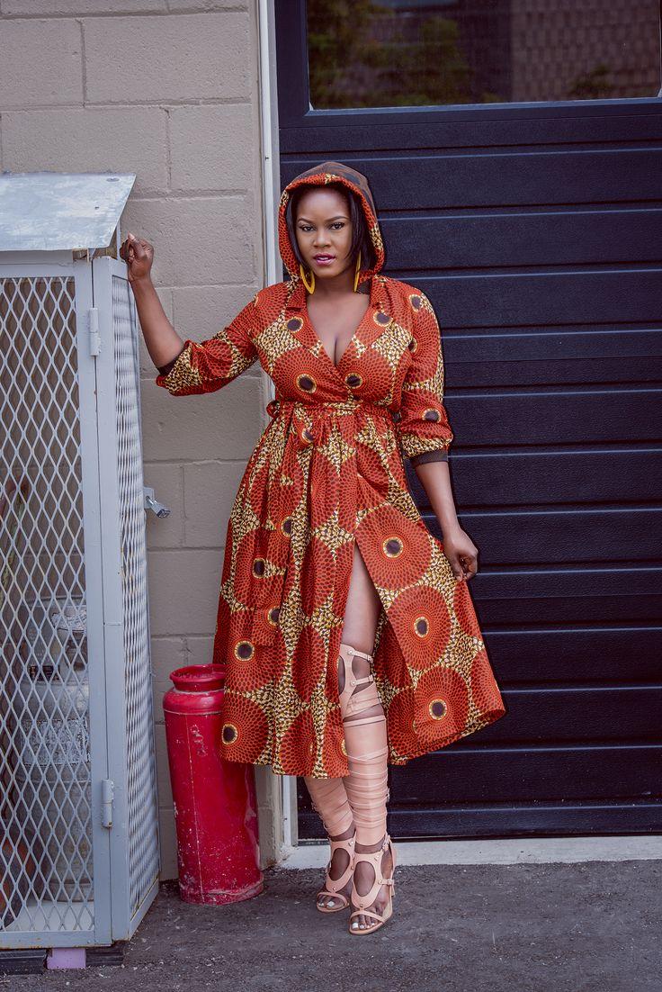 Rahyma Hoodie Wrap Dress on Zuvaa ~African fashion, Ankara ...