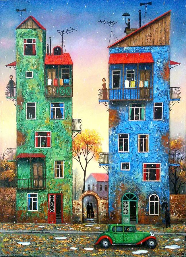 AUTUMN RAIN by  David Martiashvili (b1978 Tbilisi, GEORGIA)