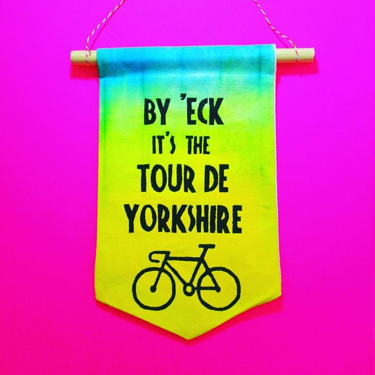 By 'eck the Tour de Yorkshire started today. The women's race was won today by Lizzie Deignan and the men's second stage has been completed today 🚴🏻 #allezallezallez #shutuplegs #owdo #yorkshirerose #yorkshire #tdy #tdf #bike #cycling #etsysellersofinstagram #cyclecafe #cyclecafe #etsyuk #etsysellers #soldonetsy #handmadeuk #handmade #madetoorder #handprinted #handpainted #peleton #cyclinglife #velo  #handcut #velocity #tourdefrance #peleton #tourdeyorkshire #byeck #wallbanner #wallhanging…
