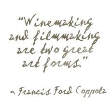 Awesome words...he knows what he's talking about. Love his Director's Cut wine and films.
