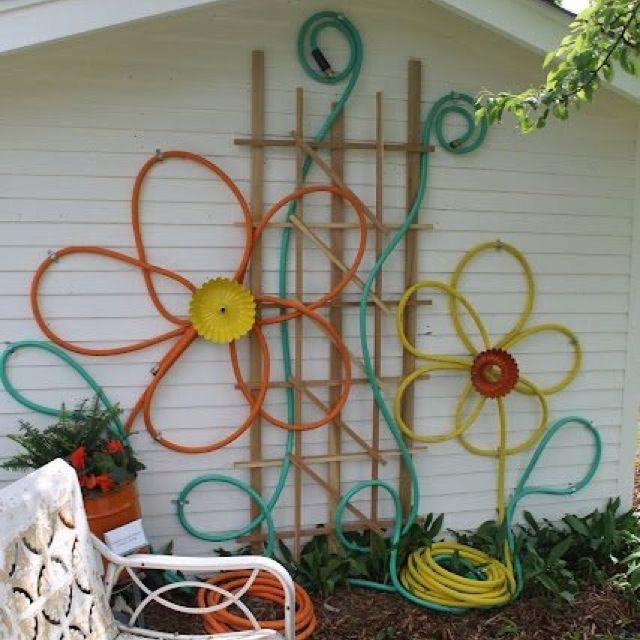 Garden Hose Flower Art