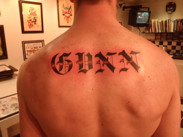 30 best last name tattoo designs images on pinterest for Last name tattoos on back