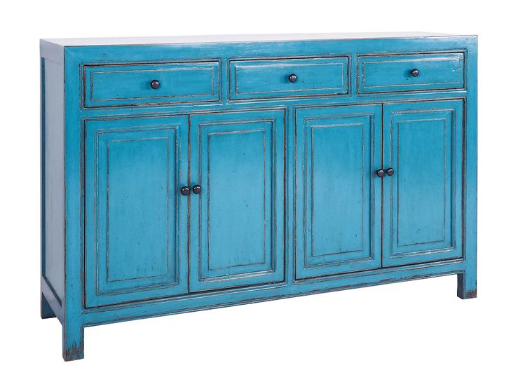 Limited Edition Coralie 3 drawer Buffet - available in Turquoise, Light Cloud, Indigo.
