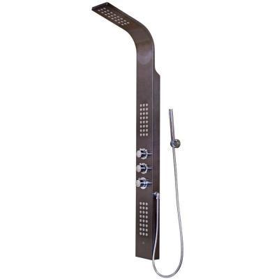 vigo rain head massage 72jet shower tower system in gunmetal grey - Shower Tower