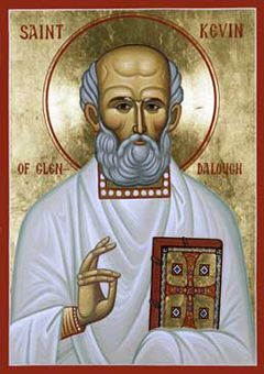 St. Kevin of Glendalough Orthodox Icon