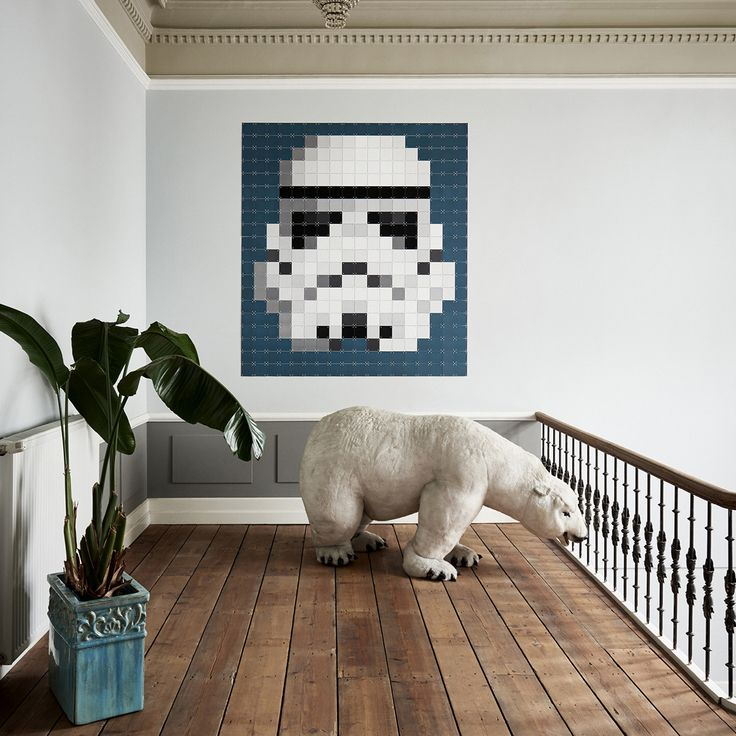 ORIIGINSTORE – ORIGINAL GIFT IDEAS. Star Wars Stormtrooper Pixel Wall Art an innovative system for displaying artwork at home and office
