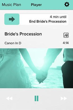 Wedding Tip - Instead of hiring a DJ or a band, get this handy wedding DJ app. This $4.99 app is simple and easy to use. You can make several playlists for the different parts of your ceremony. You'll want someone to be in charge of the app because the songs play on repeat until you manually change playlists, but that's great for the end of the night when you won't want the music to end.
