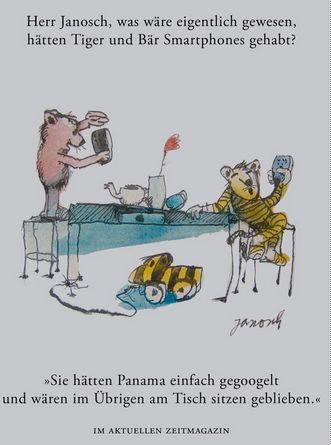 Herr #Janosch, was wäre eigentlich gewesen, hätten Tiger und Bär Smartphones gehabt?