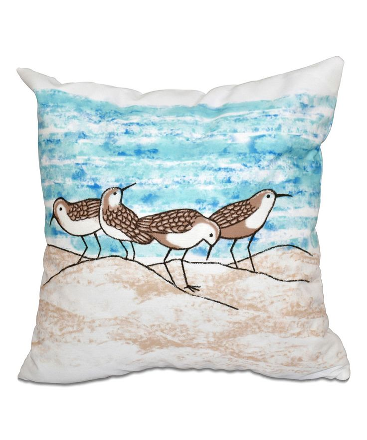 Another great find on #zulily! Taupe Sandpipers Throw Pillow by E by Design #zulilyfinds