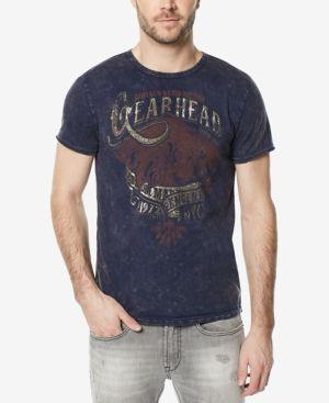 Buffalo David Bitton Men's Tucam Midnight Graphic-Print T-Shirt - Blue XXL