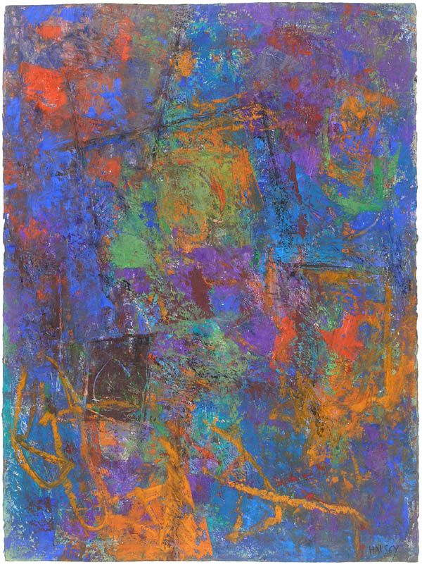 William Halsey - Night Shapes 1997, Oil on Paper  30 x 22 1/4 inches