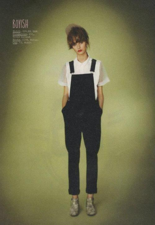 Black dungarees | Boyish | Workwear | Simple