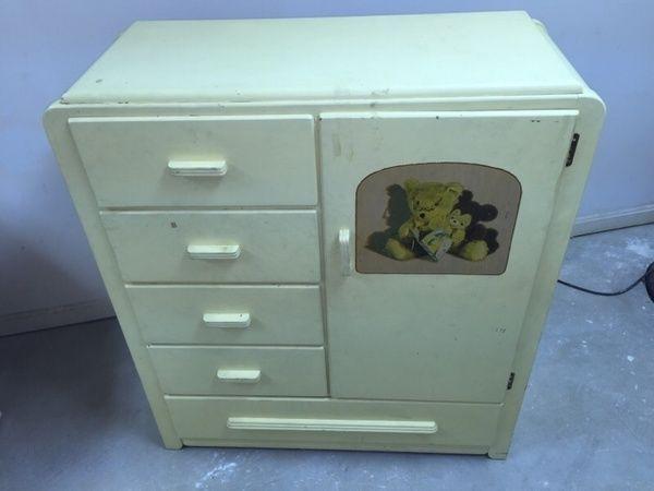 1950 S Vintage Chifferobe Child Dresser Baby Nursery