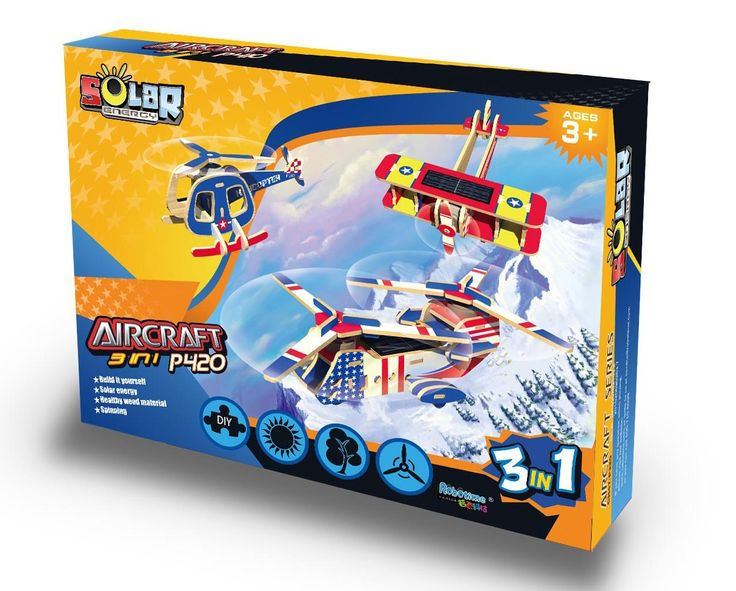 Robotime - Solar Planes 3 in 1 Construction Kit - love the idea of kids being able to build their own aircraft and learning about solar energy in the process #EntropyWishList #PinToWin