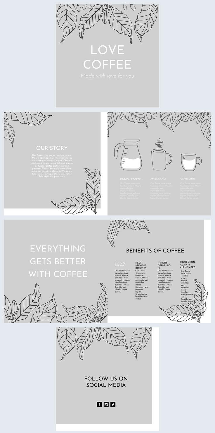 Creative Coffee Shop Brochure Template Graphic Design Brochure