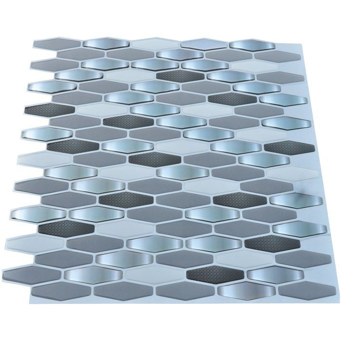 12 X 12 Pvc Peel Stick Mosaic Tiles Peel N Stick Backsplash Wall Tiles Backsplash