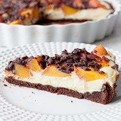 Tarta sernikowa z brzoskwiniami | Kwestia Smaku