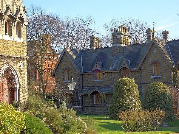 Victorian Gothic Holly Village, Highgate, North London, by H. A. Darbishire