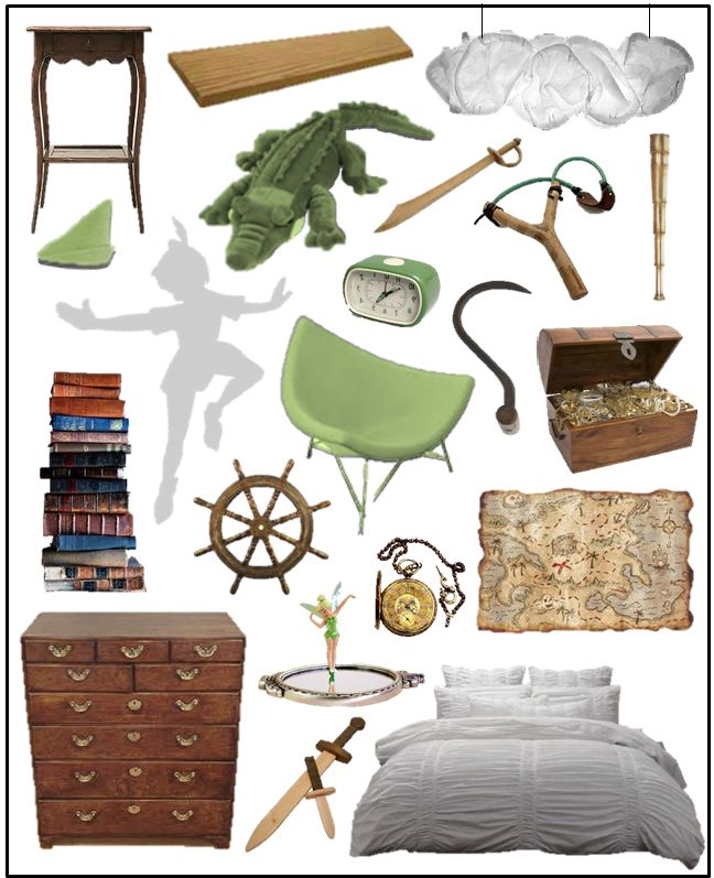 Peter Pan bedroom idea. So doing this for a nursery someday. No joke. This is awesome!