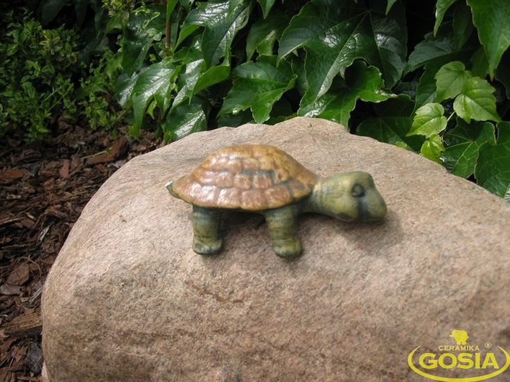 Żółw regałowy mały - figurka ceramiczna ogrodowa