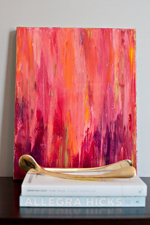 16x20 pink abstract bilder pinterest leinwandbilder selber machen abstrakte und. Black Bedroom Furniture Sets. Home Design Ideas