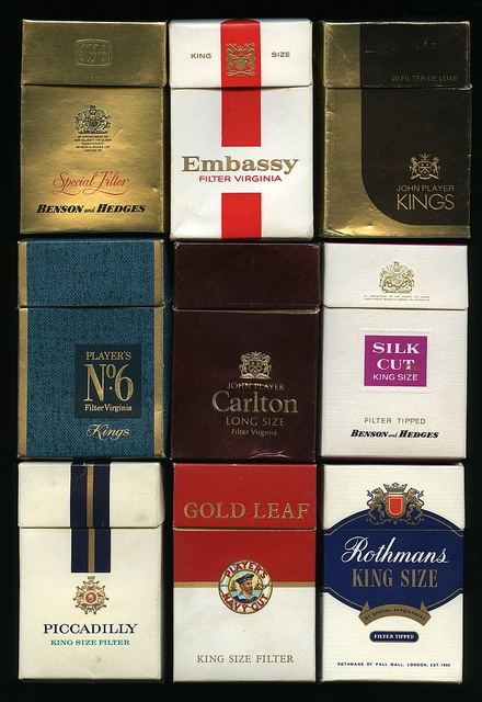 King Size Cigarette brands 1970s by retrowow, via Flickr