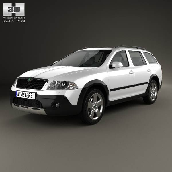 Skoda Octavia Scout 2005 3d model from humster3d.com. Price: $75