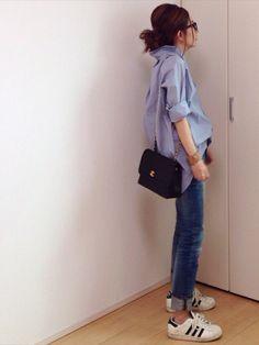 mayumiさんのシャツ/ブラウス「Deuxieme Classe ◆ヘアラインストライプシャツ」を使ったコーディネート