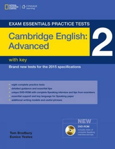 Exam Essentials: Cambridge Advanced Practice Tests 2 w/o key + DVD-ROM - Price: $ 17.05 View Available Formats (Prices May Vary) Buy It Now Exam Essentials is our major British English exam preparation series combining exam preparation, practice, and tips for the revised Cambridge English exams. This effective...