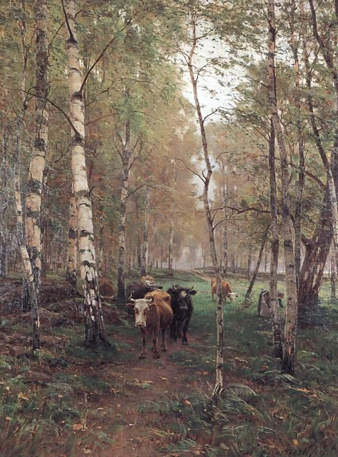 Victor Westerholm, 1860-1919, Finnish cows - Finland