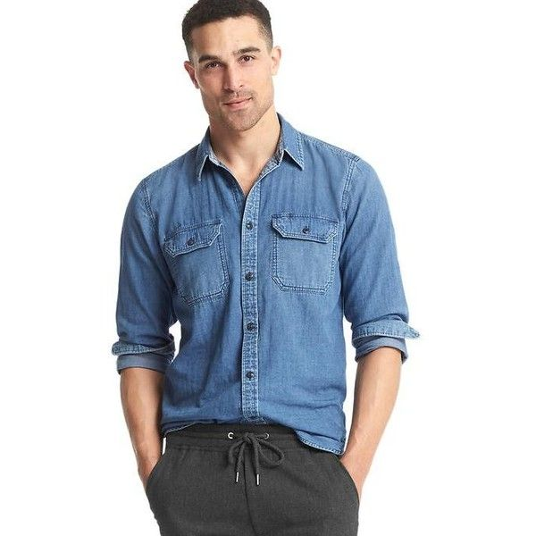 Best 25 Denim Shirt Men Ideas On Pinterest Men Clothes