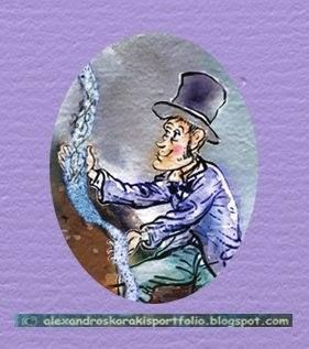"Third gentleman with the top hat. A character from the fantasy e-book  ""Andariasmeni, the buildings and her friends.""  http://andariasmeni.blogspot.gr/"