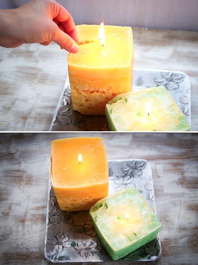 Riciclare vecchie candele e le candele di ghiaccio - Henry Happened